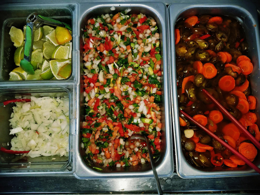 Try our different salsas!